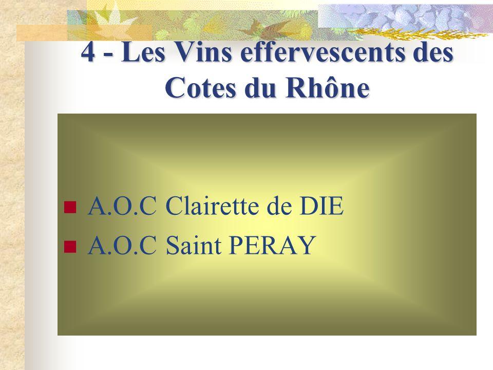 4 - Les Vins effervescents des Cotes du Rhône