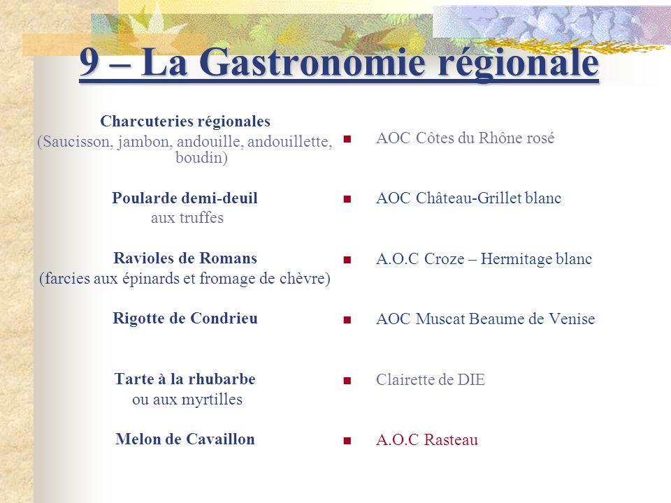 9 – La Gastronomie régionale