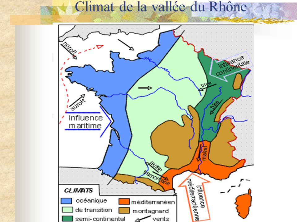 Climat de la vallée du Rhône