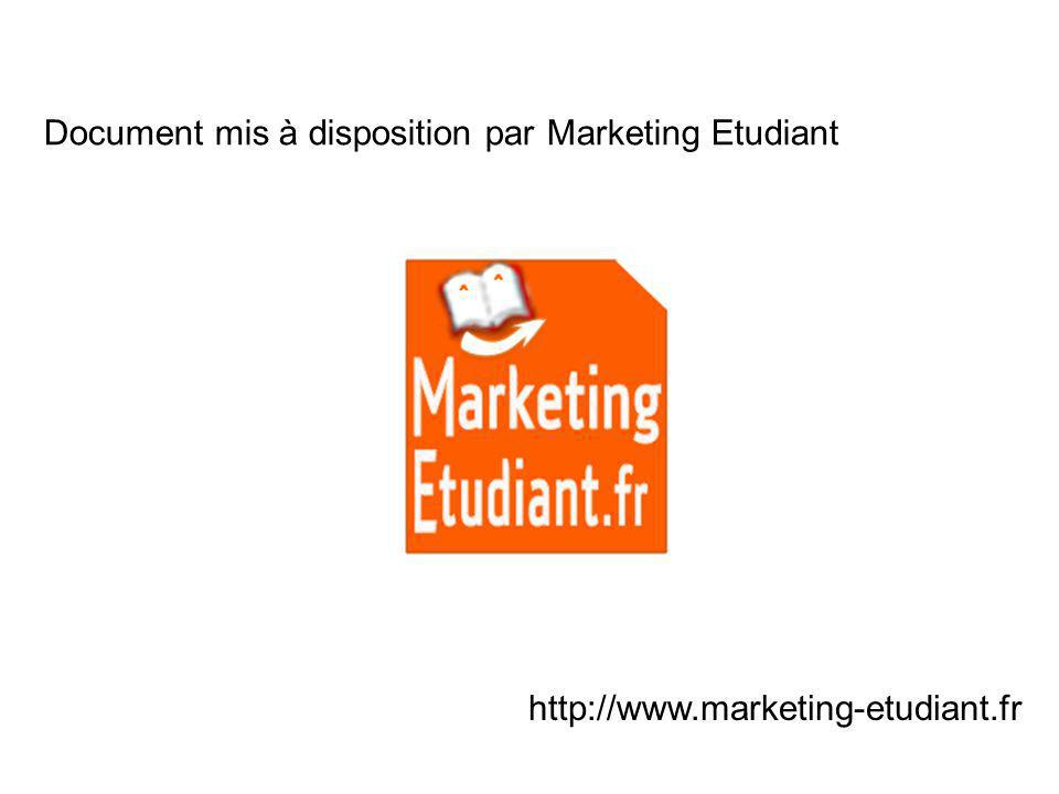 Document mis à disposition par Marketing Etudiant