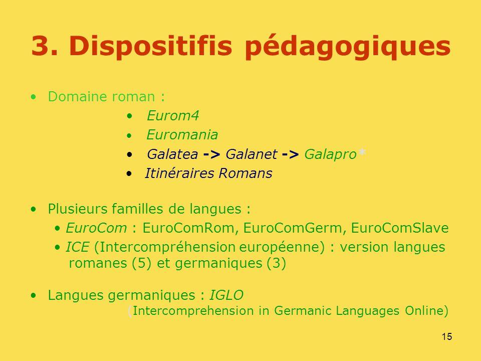 3. Dispositifis pédagogiques