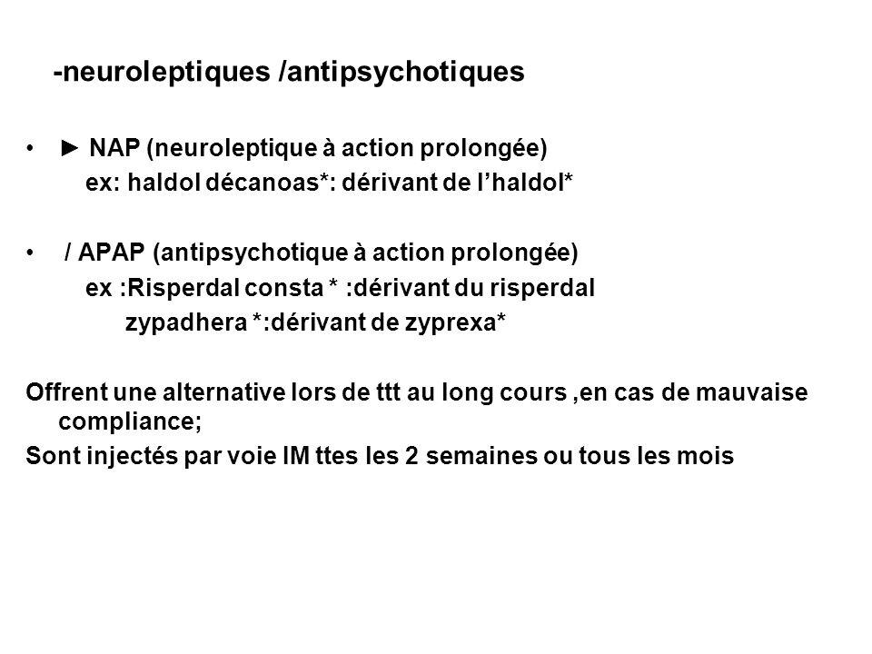 -neuroleptiques /antipsychotiques