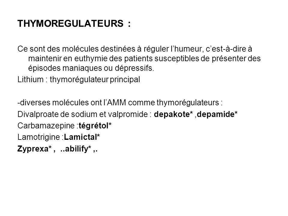 THYMOREGULATEURS :