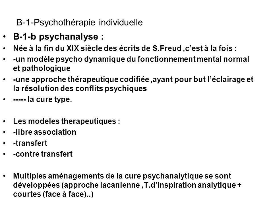 B-1-Psychothérapie individuelle