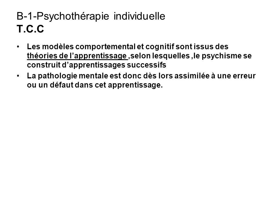 B-1-Psychothérapie individuelle T.C.C