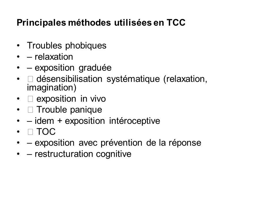 Principales méthodes utilisées en TCC