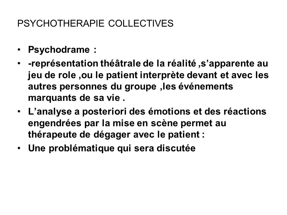 PSYCHOTHERAPIE COLLECTIVES