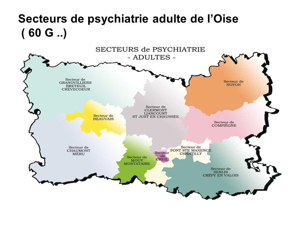 Secteurs de psychiatrie adulte de l'Oise ( 60 G ..)