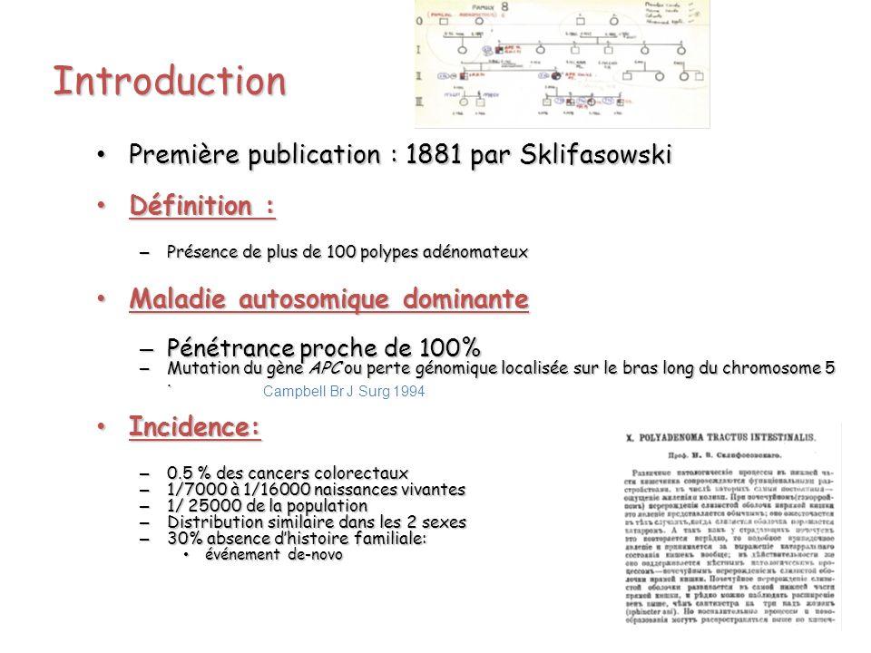 Introduction Première publication : 1881 par Sklifasowski Définition :