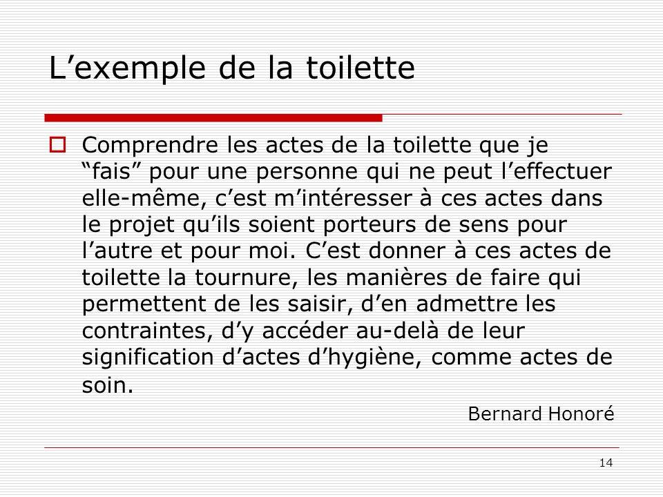 L'exemple de la toilette
