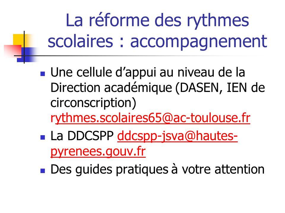 La réforme des rythmes scolaires : accompagnement