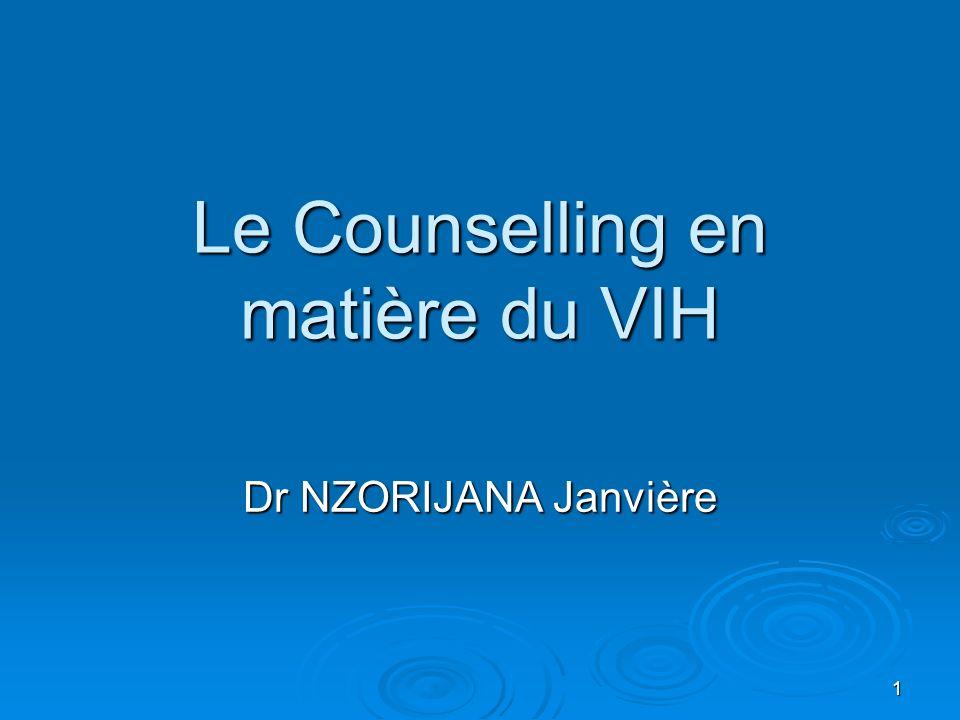 Le Counselling en matière du VIH
