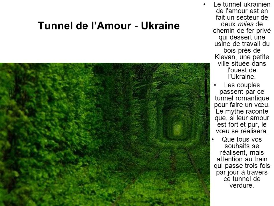 Tunnel de l'Amour - Ukraine