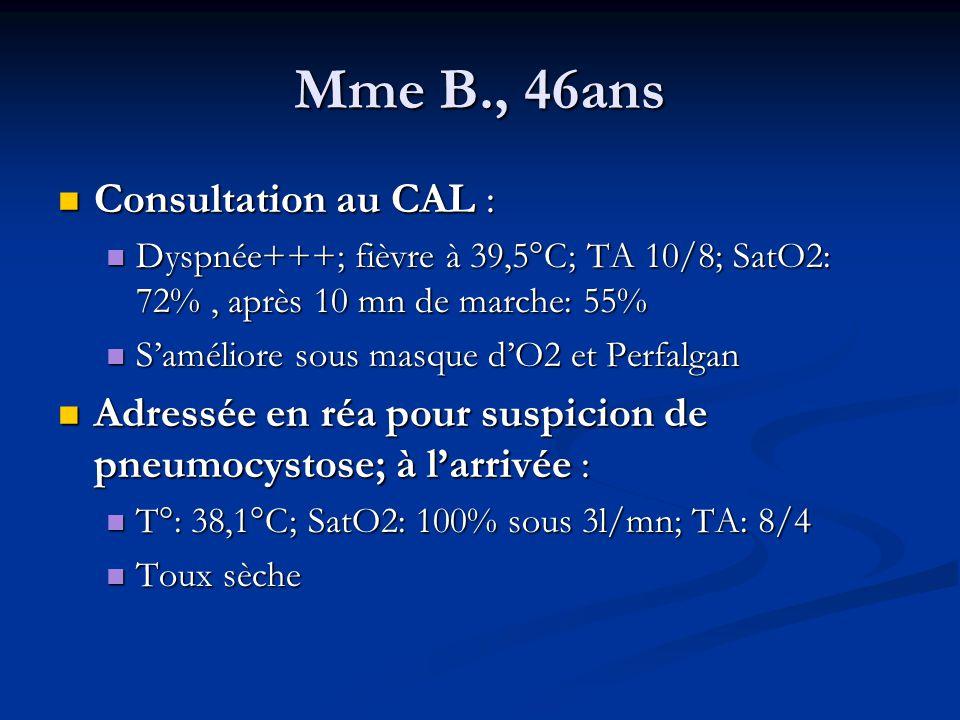 Mme B., 46ans Consultation au CAL :