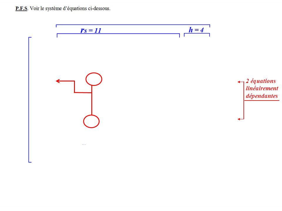 2 équations linéairement dépendantes