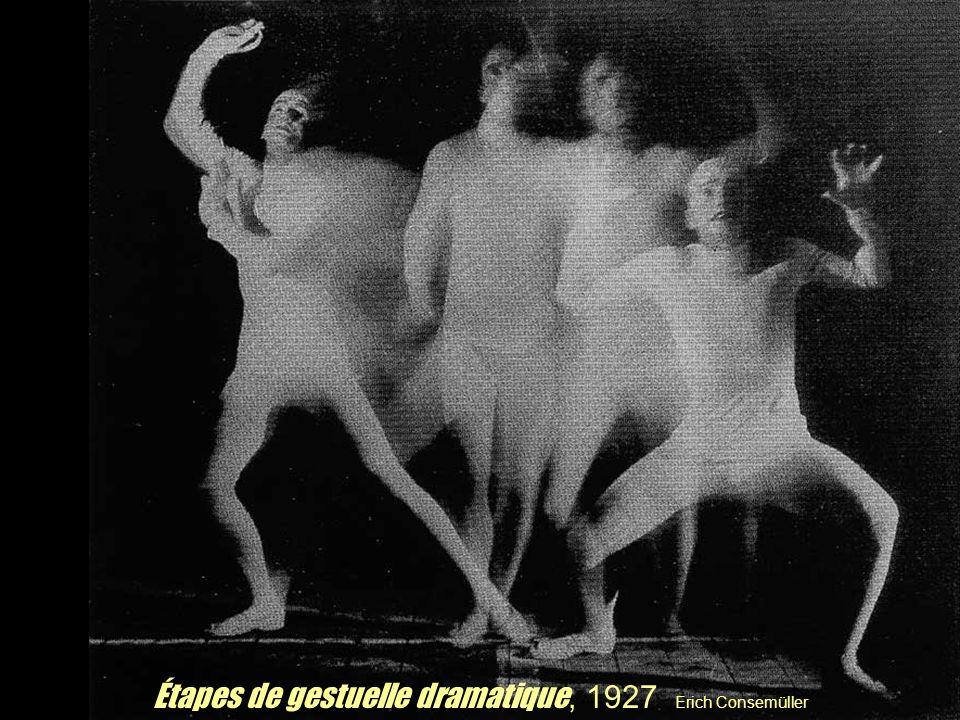 Étapes de gestuelle dramatique, 1927 Erich Consemüller