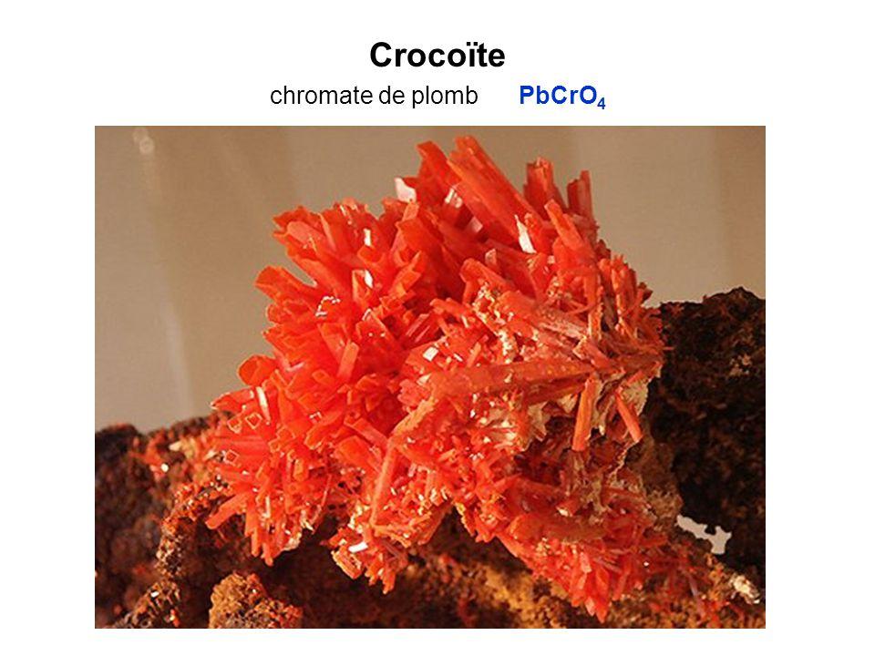 Crocoïte chromate de plomb PbCrO4