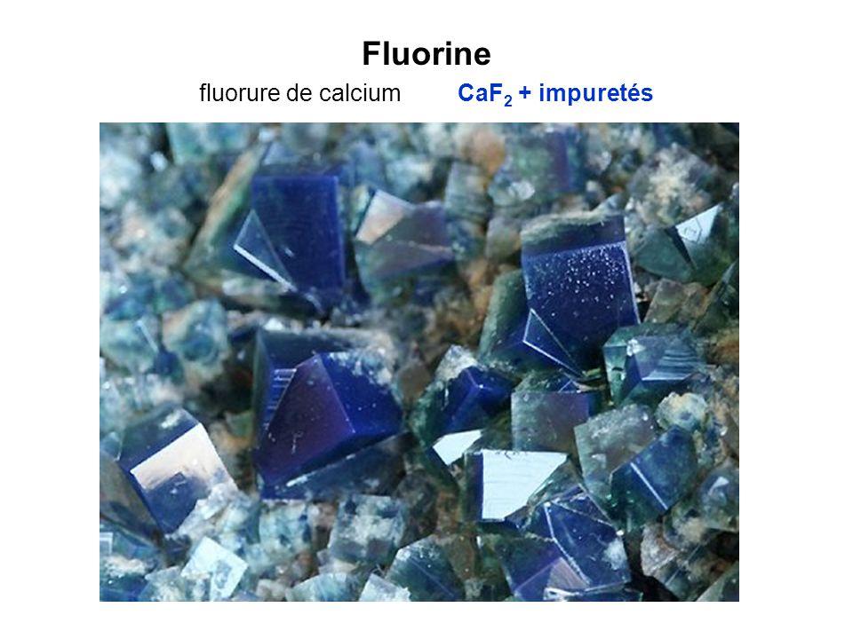 Fluorine fluorure de calcium CaF2 + impuretés