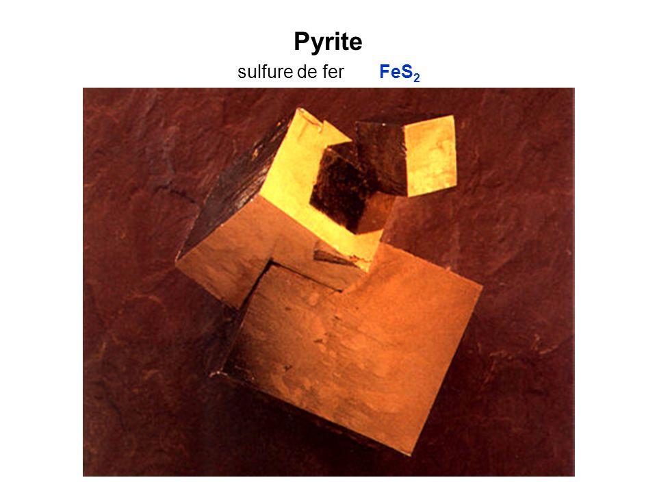 Pyrite sulfure de fer FeS2