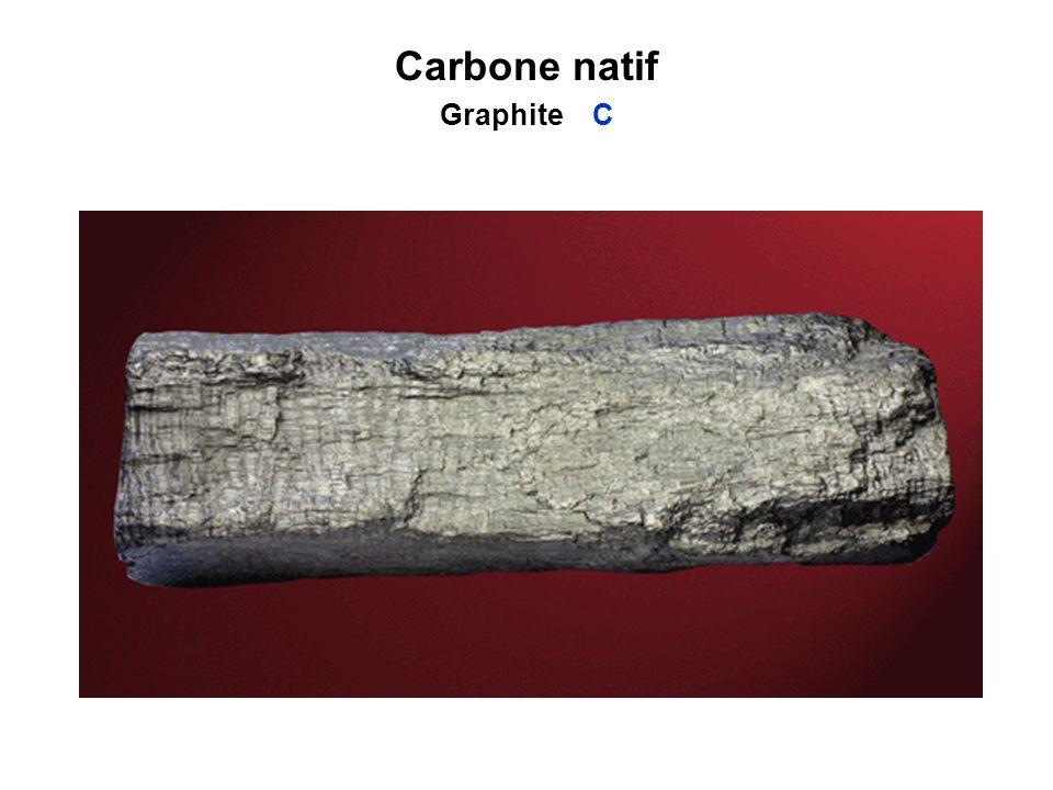 Carbone natif Graphite C