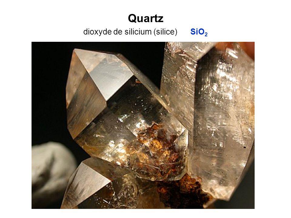 Quartz dioxyde de silicium (silice) SiO2