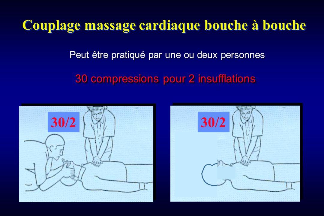 Couplage massage cardiaque bouche à bouche