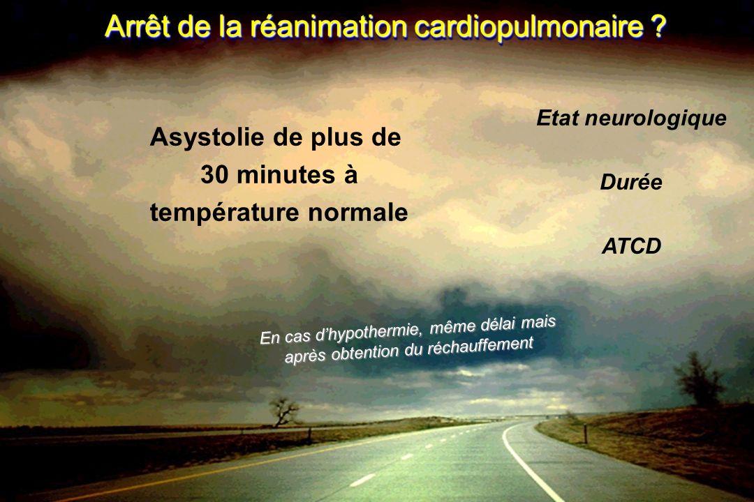Arrêt de la réanimation cardiopulmonaire