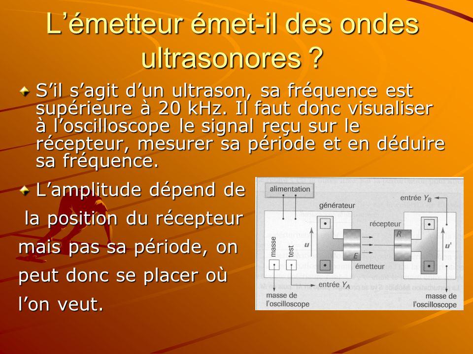L'émetteur émet-il des ondes ultrasonores