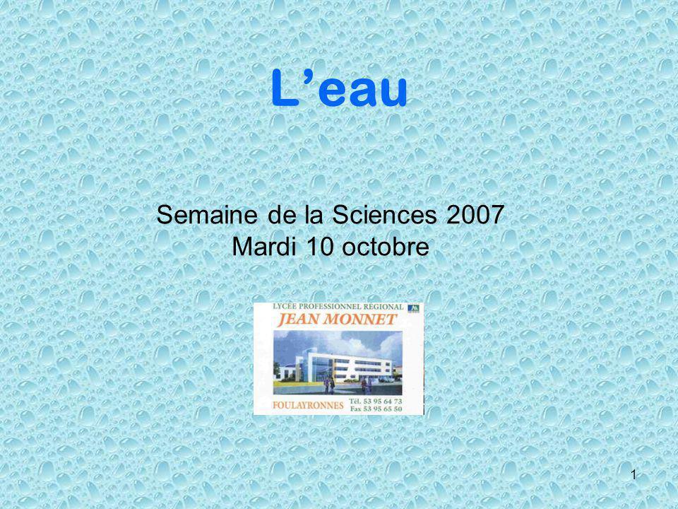 Semaine de la Sciences 2007 Mardi 10 octobre