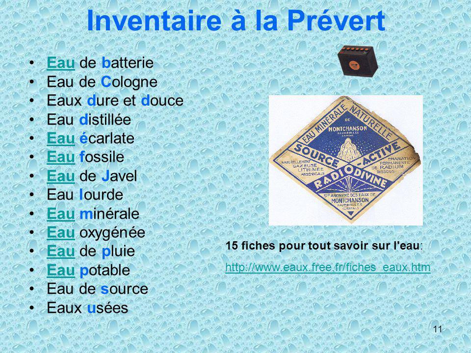 Inventaire à la Prévert