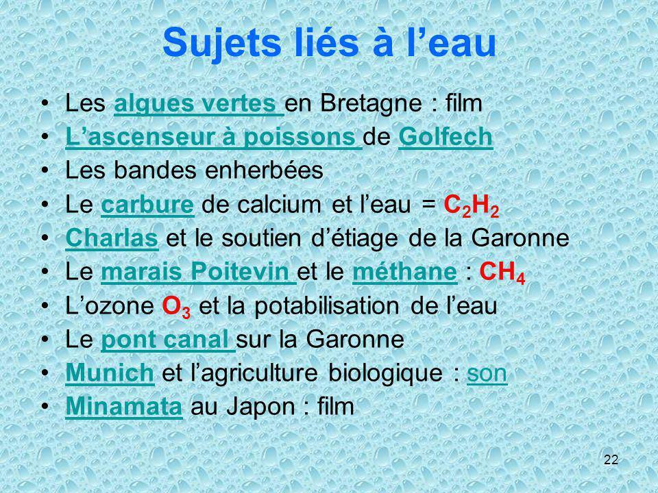 Sujets liés à l'eau Les algues vertes en Bretagne : film