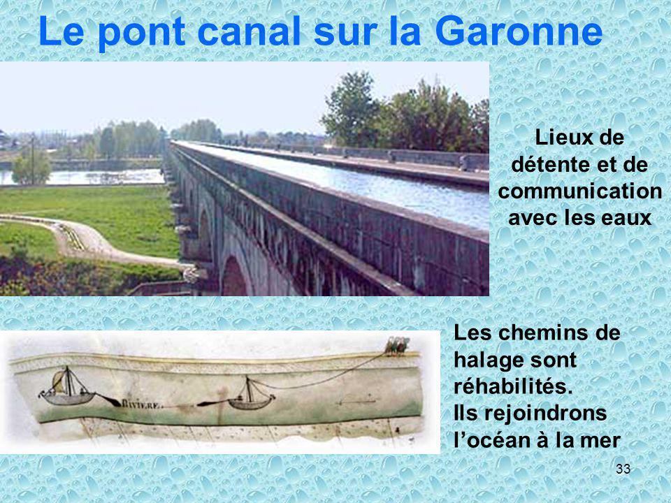 Le pont canal sur la Garonne