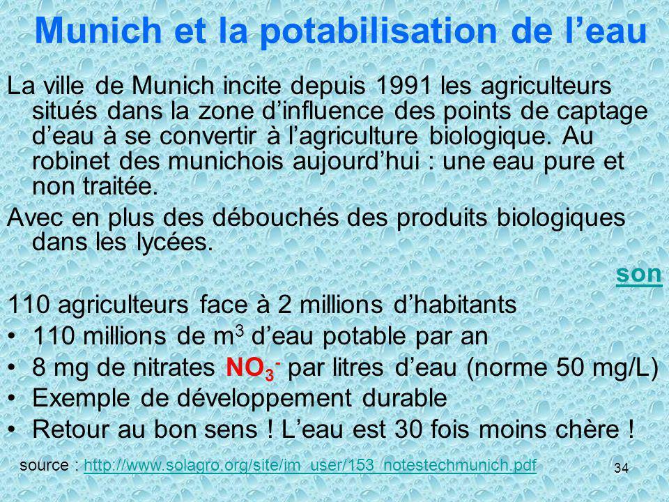 Munich et la potabilisation de l'eau