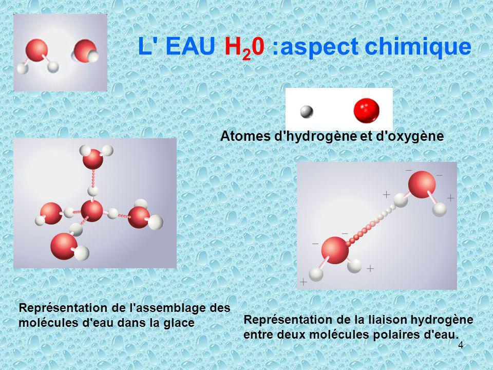 L EAU H20 :aspect chimique