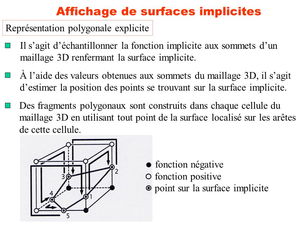 Affichage de surfaces implicites