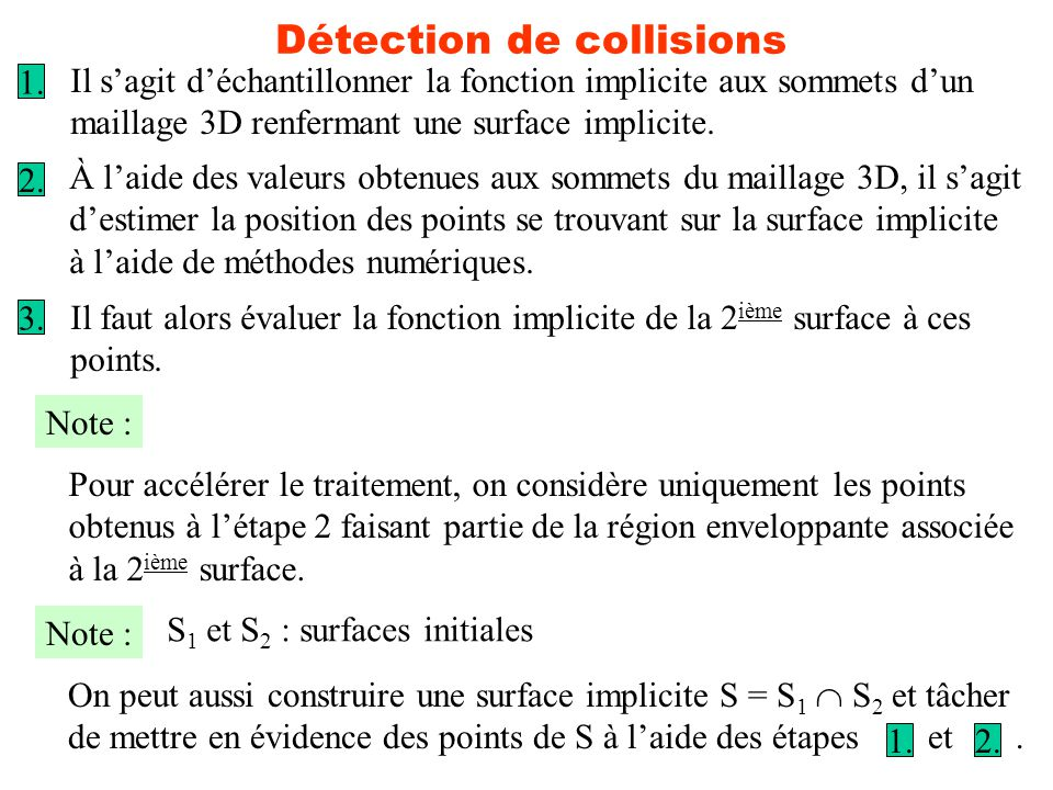 Détection de collisions
