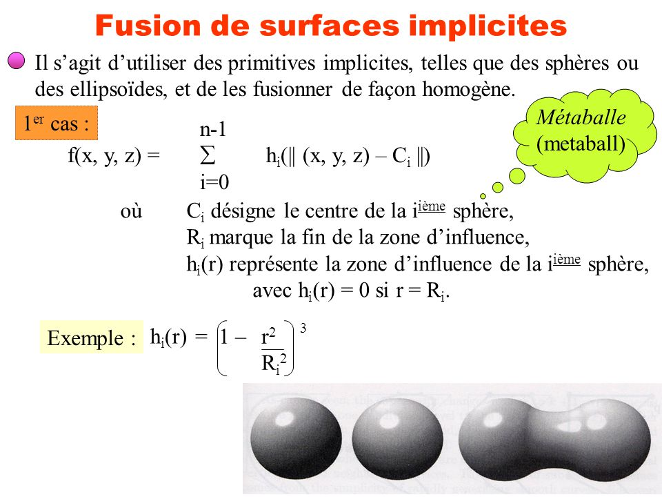 Fusion de surfaces implicites