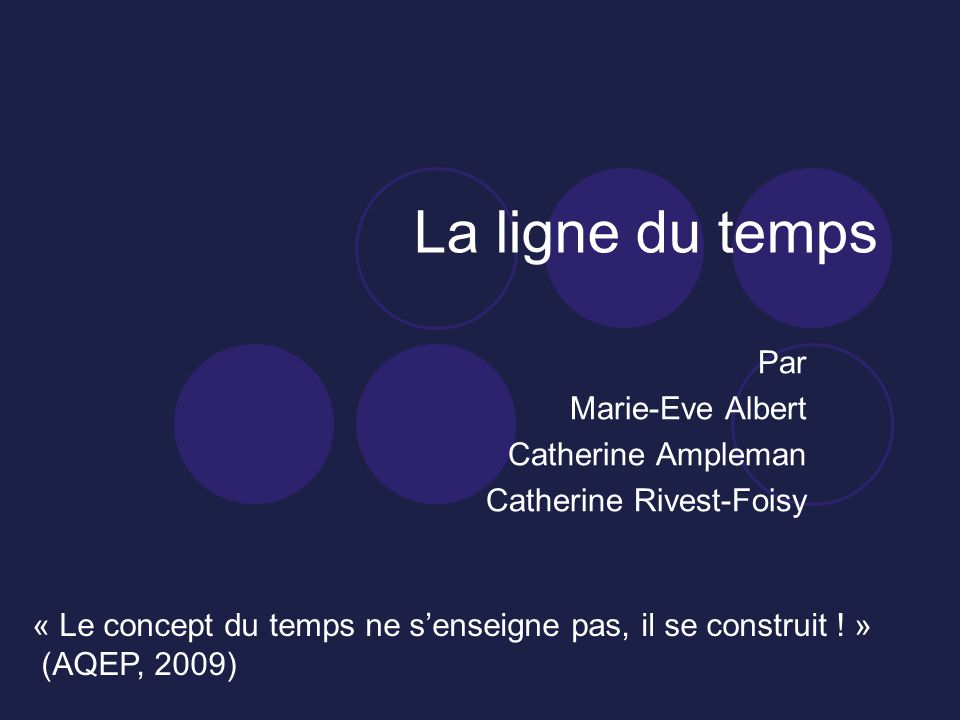 Par Marie-Eve Albert Catherine Ampleman Catherine Rivest-Foisy