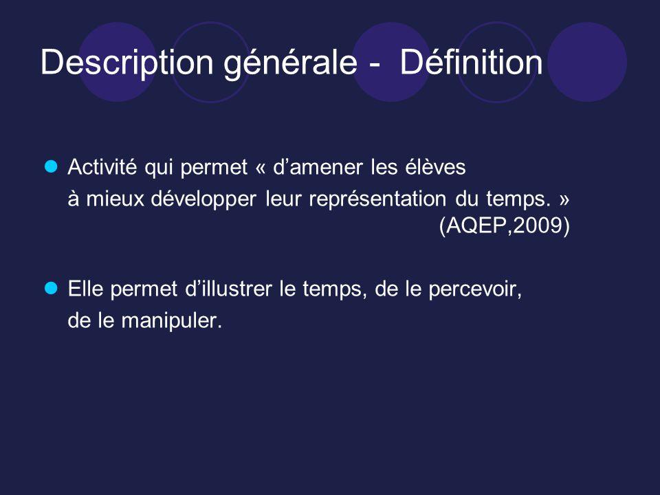 Description générale - Définition