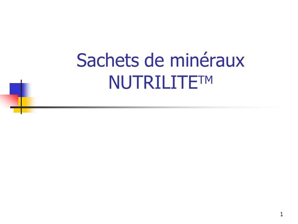 Sachets de minéraux NUTRILITETM