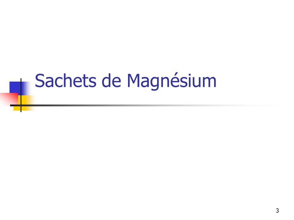 Sachets de Magnésium