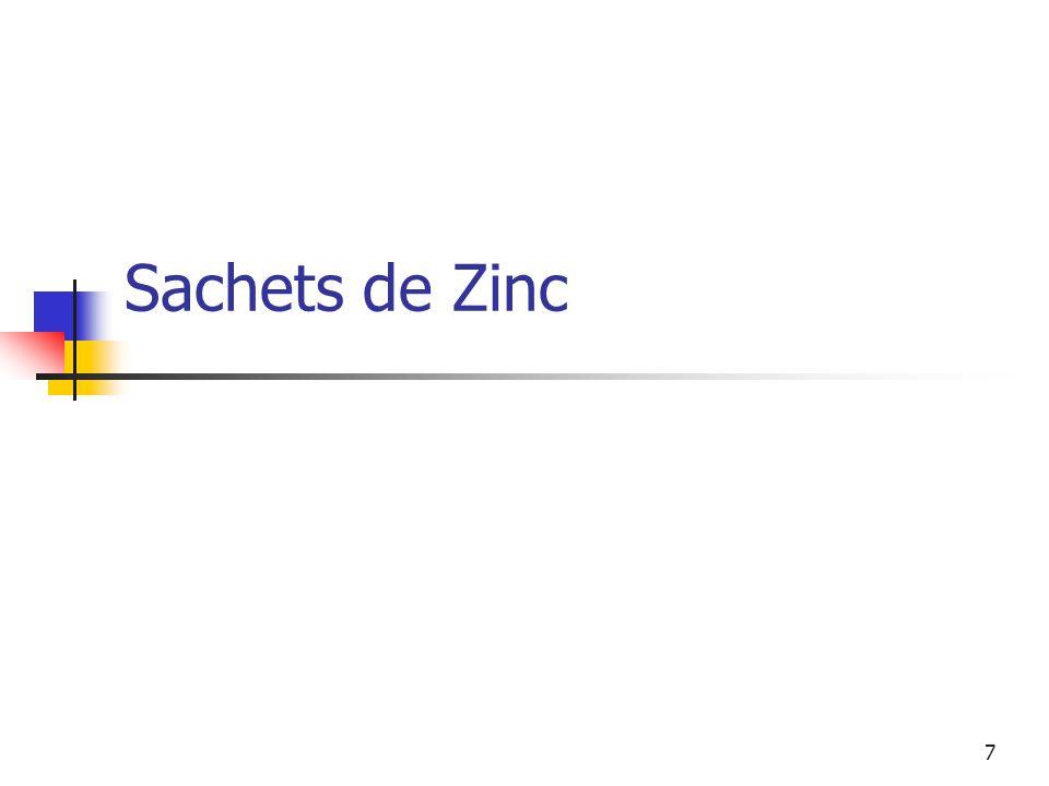 Sachets de Zinc