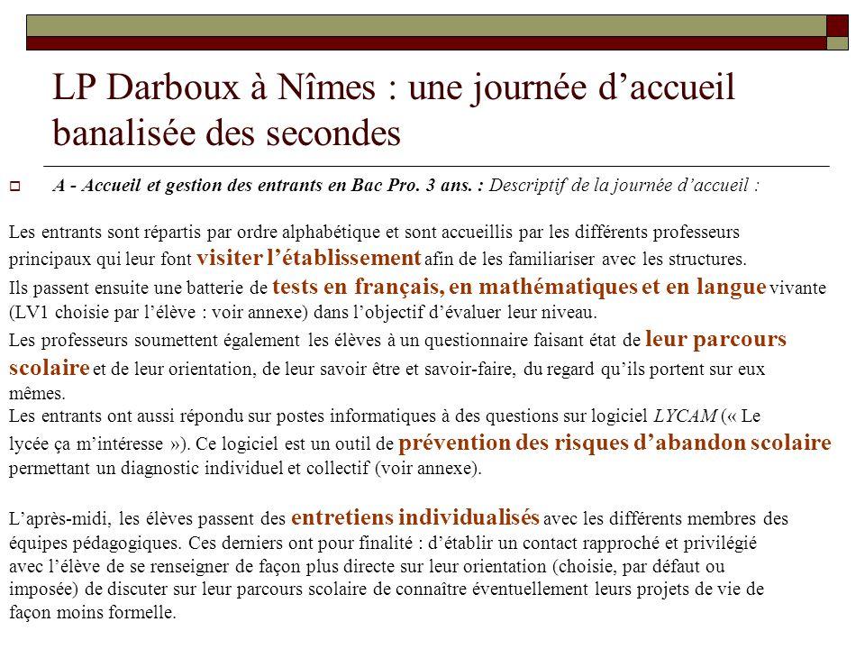 LP Darboux à Nîmes : une journée d'accueil banalisée des secondes