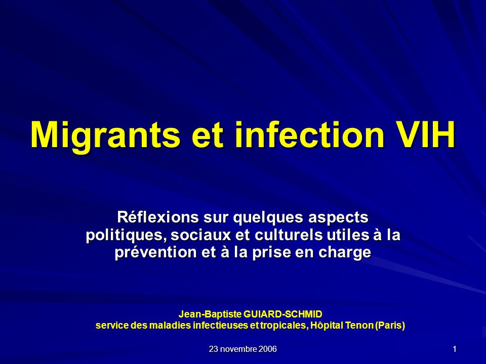 Migrants et infection VIH