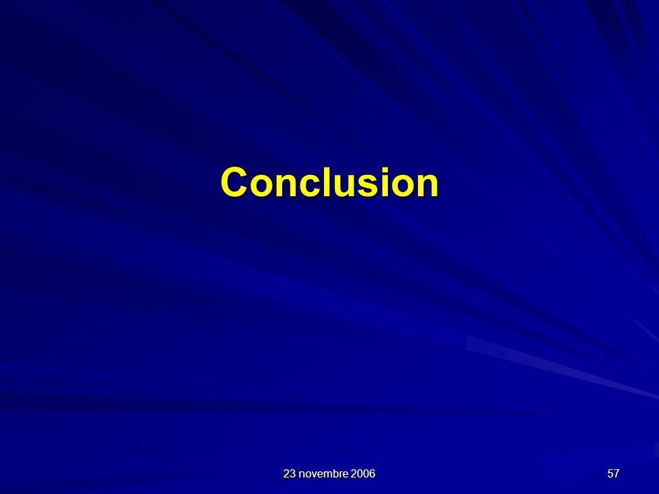 Conclusion 23 novembre 2006