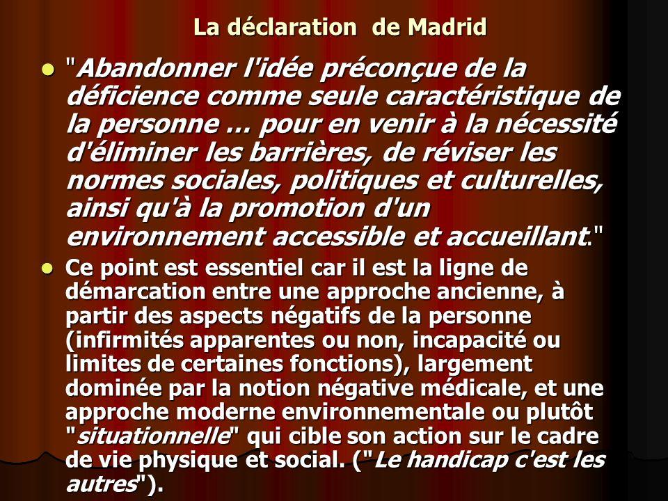 La déclaration de Madrid