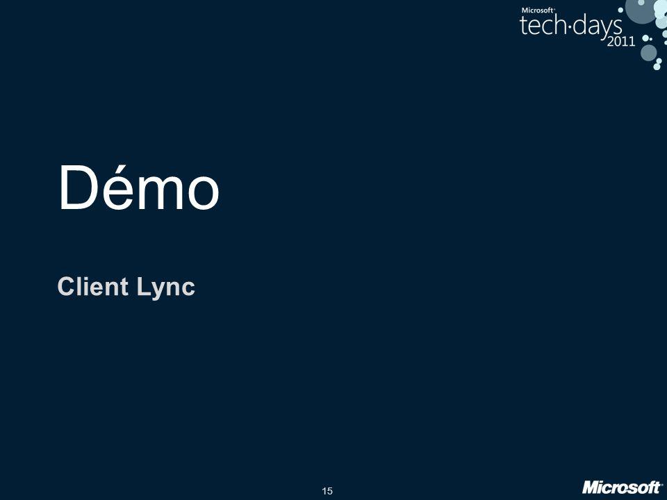 Démo Client Lync