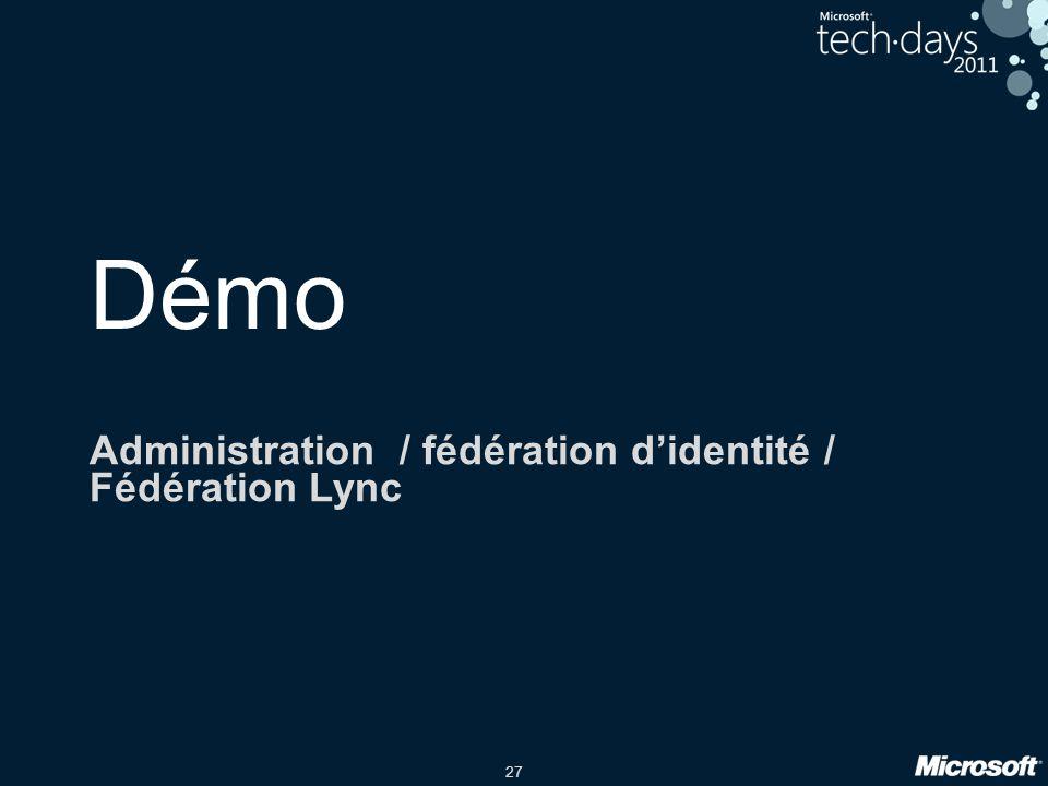 Administration / fédération d'identité / Fédération Lync