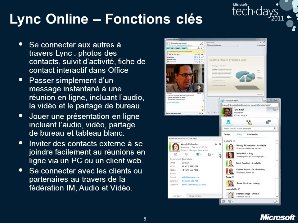 Lync Online – Fonctions clés