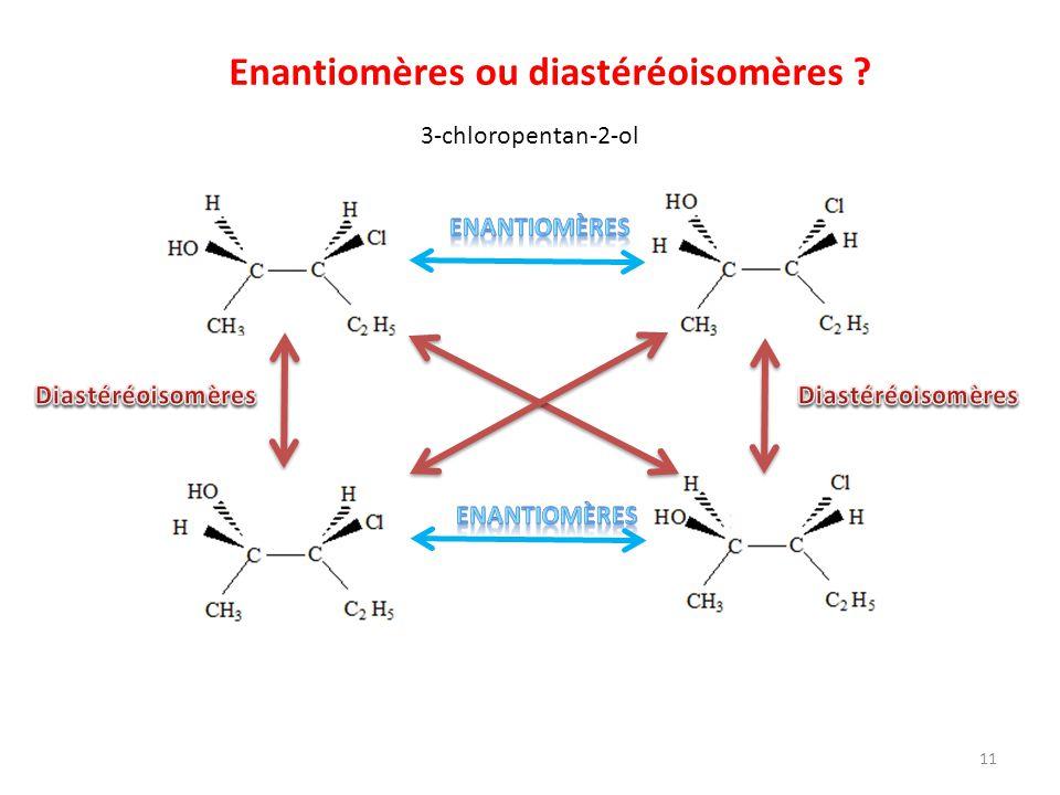 Enantiomères ou diastéréoisomères